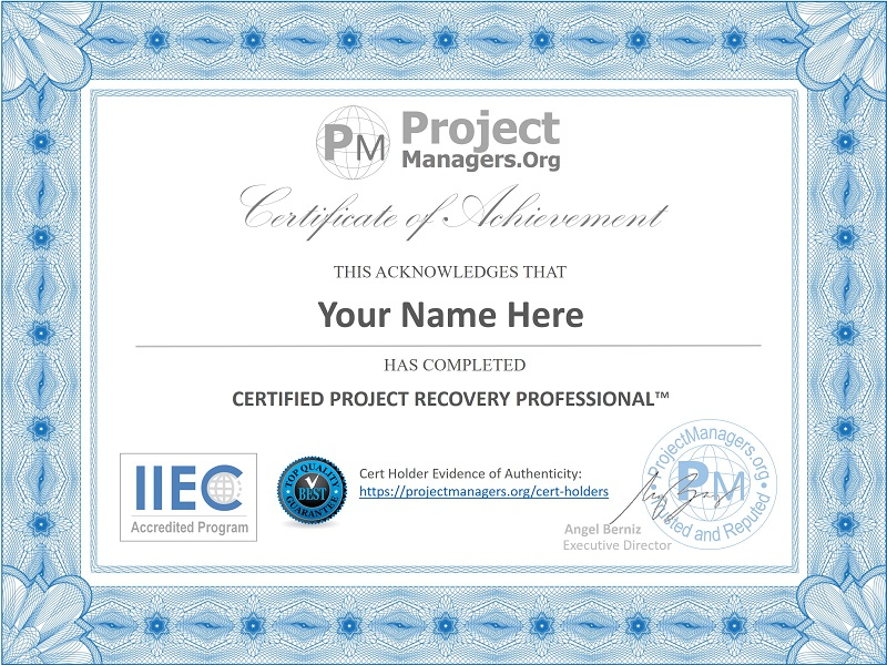 Certified Recovery Professional