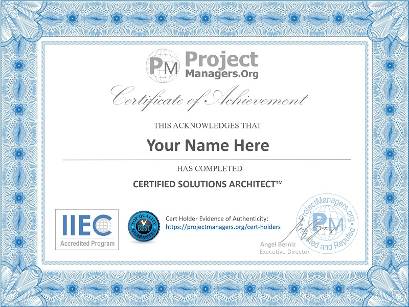 Certified Solutions Architect