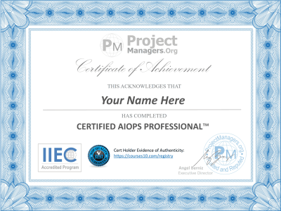 aiops certificate
