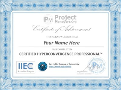 hyperconvergence certificate